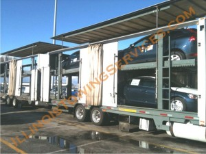 Enclosed car transport Huston TX - car moving by CanAm Transportation Inc.