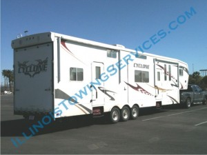 Fifth wheel Sacramento CA RV transport - Illinois Vehicle Transport