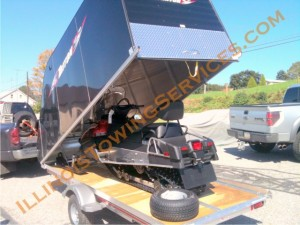 Snowmobile transport Johnsburg IL - Illinois Vehicle Transport