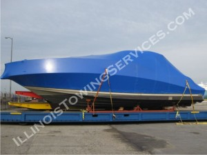 Motor yacht transport Winchester IL - CanAm Transportation Inc.
