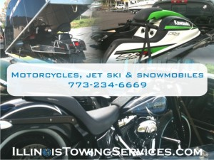 Motorcycle Transportation, Jet Ski, and Snowmobiles Transport - Illinois Towing Services