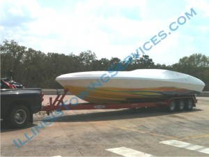 Power Boat transport Hamilton IL, CanAm Transportation Inc.