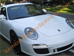 Exotic car transport - Porsche 911 Carrera 4 GTS enclosed trailer transport