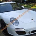 Exotic car transport - Porsche 911 Carrera 4 GTS enclosed trailer transport